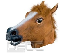 Novelty Creepy Horse Halloween Head latex Rubber Horse head mask Prop Party Horse Mask Offering Discounts silicone mask