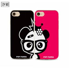 his and hers phone case for iPhone 6 7 plus 4 4s 5 5s 5c se 6s for aplee Hard plastic black cheap cell phone covers(China)