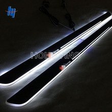 2 pcs LED door sill For sline A4  2013-2015 Led moving door scuff plate Pathway light front door lamp