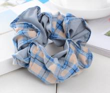 Free Shipping 2017 New SOFT PLAID hair Scrunchies Children Hair Tie Hair Accessories Ponytail Holder Hair