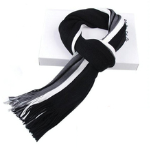 2015 Real Winter Scarf Korean Version Explosion Models Hot Tassels Striped Knitted Mixed Colors Casual Men Scarves Free Shipping(China)