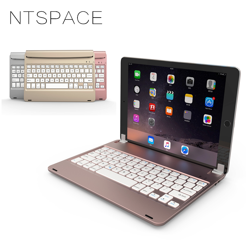 NTSPACE For iPad Air 2 Pro 9 .7 Foldable Wireless Bluetooth Keyboard Case For iPad Air 1 Stand Keypad for iPad 2018 9.7 inch
