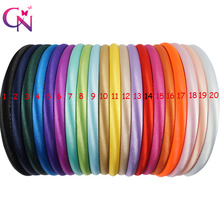 40 Pcs/lot 20 Colors 10mm Baby Girls Solid Satin Cover Hairband Kids Children Hard Headband Hair Accessories Headwear