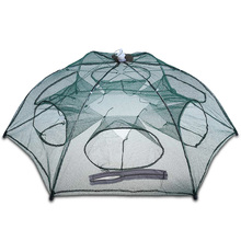 Fishing Net 6 Small Hole Mesh Hexagon Folded Fishing Net Lobster Basket Cage Catch Fish Pot Minnow Trap Ruse Cast Shrimp Net(China)