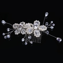 New Arrival Fashion Crystal Glass Hairwear for Women  Pearl Hair Stick Crystal beads Female Hairpin alloy Jewelry CY161117-30