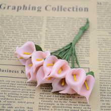 12pcs/bunch PE fake flowers Calla flower mini flower decoration dried flower