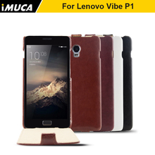 IMUCA Case for Lenovo Vibe P1 Luxury Flip Leather Case Cover for Lenovo Vibe P1 P 1 C58 C72 Mobile Phone Bags Cases Accessories