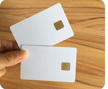Free shopping New White Blank PVC 4428 Contact IC Card With SLE 4428 Chip Smart Card,10pcs/lot(China)