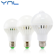 YNL Auto Smart PIR Motion/Sound+Light Sensor E27 3w 5w 7w 9w 12w White automatic Detection Infrared Body Light Motion Sensor