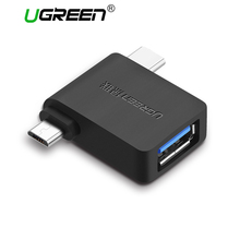 Ugreen USB OTG Adapter 2 in 1 USB 3.0 Micro USB OTG Adapter Type C Converter For Xiaomi Huawei LG USB C Adapter Android Phones(China)