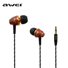 Dinto AWEI Original Q5 3.5mm In Ear Headsets Sport Stereo Earphones Fashion Bass Earbuds Gift Universal with Retail Package(China)