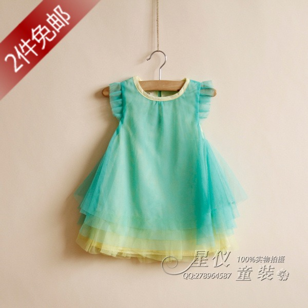 New Cute Childrens clothing 1 - 7 baby summer female child one-piece dress candy color princess dresses free shipping<br><br>Aliexpress