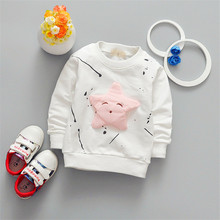 2017 new fashion children cartoon long sleeved T-shirt all-match Korean star fashion jacket direct foreign trade drop shipping