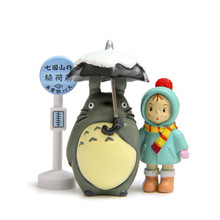 Mini Miyazaki Hayao 3pcs/set 2cm-10cm My Neighbor Totoro Tonari no Totoro  Toy  Anime Cartoon Action Toy Figure Model Kids Toys