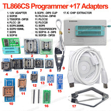 Original Minipro TL866CS Universal Programmer+17 Adapters+SOP8 IC Clip+1.8V Adapter High speed TL866 Flash EPROM Programmer(China)