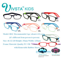 Wholesale 20pcs/lot mix order No Screw TR Kids Frame Rubber Sleeve Bendable removable Children Glasses Optical 8812 OEM logo CE(China)