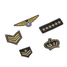 Hot Sale Random 5Pc Clothing Decoration Garment Craft Applique Patch Military Rank Emblem Army Badge Embroidered Patch