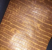 synthetic PU imitate coke crocodilian artificial leather fabric raw material sale by yard(China)