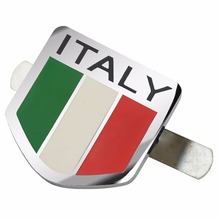 MAYITR Car styling Metal Italy Italian Flag Car Front Grill Grille Emblem Badge Sticker Decal with Necessary Accessories(China)