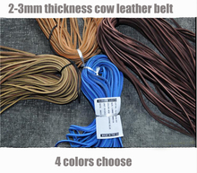 93cm cowhide leather rop for Knife DIY, wallet DIY  4 colors