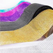 1 yard/91.5cm Wedding Decoration Bling Diamond Mesh Trim Wrap Cake Roll Rhinestone Crystal Ribbons Christmas New Year gift