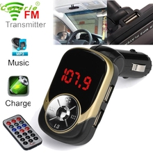 New Arrival LCD Car-Styling MP3 MP4 Player Wireless FM Transmitter Modulator SD/ MMC Card w/ Remote jr3(China)