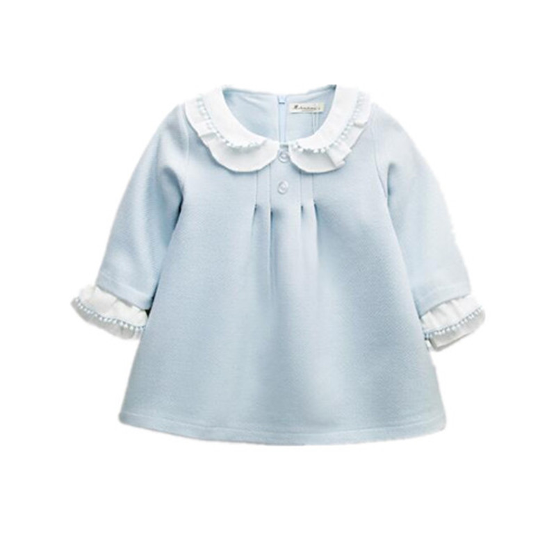 BBWOWLIN Baby Girl Autumn Style Princess Dress Light Blue Long Sleeve for 0-2T Little Girls Christmas Birthday Party Dress 80243<br><br>Aliexpress