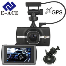 E-ACE Car Camcorders Mini Dash Cam Auto Video Recorder Rear View Mirror Camera Automotive GPS Car Dvr With GPS Tracker Cams Dvrs(China)
