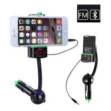 Multi-function Bluetooth car Kit mobile phone clip FM transmitter phone holder Audio Music Receiver Adapter Handsfree