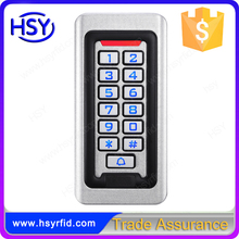 IP68 Waterproof Metal case Silicon Keypad RFID 125Khz EM Card Standalone Access controller with wiegand26 input & output(China)