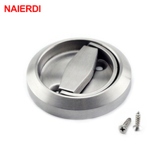 2PCS NAIERDI 304 Stainless Steel Handle Hidden Recessed Invisible Pull Fire Proof Door Handles Cabinet Knobs Furniture Hardware