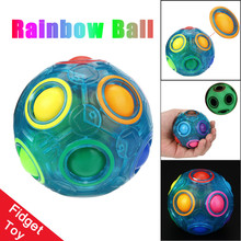 MUQGEW Luminous Magic Rainbow Football Creative Ball Kids Spherical Magic Cube Learning Education Puzzle Block Toy Hot Selling(China)