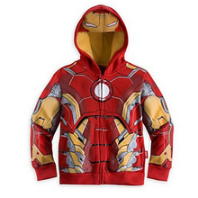 2017 Children Outerwear boys coat Captain America jacket children iron man hoodies Outwear Baby kids boys Hero costume(China)