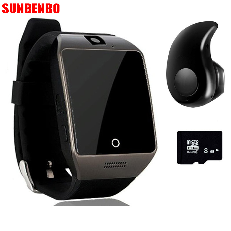 Smartwatch Free Q18 Passometer Smart watch Touch Screen camera TF card Bluetooth smartwatch Android IOS Phone