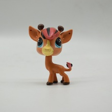 LPS Toy Pet Shop Sparkle Eyes Brown deer Action Figure animal Toys for Children Birthday Gift(China)