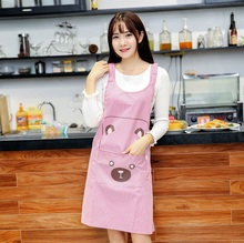 Hooyi 72*66cm Skirt Apron Long Apron Dress Dirtproof Woman Girl Pinafore Apron Adress for Cooking Cleaning Sanitary