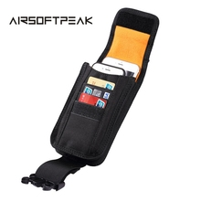 AIRSOFTPEAK Tactical Molle Phone Pouch Belt Waist Bag Military Nylon Cell Phone Utility Card Bag Outdoor Hunting Bag