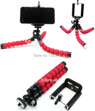 "Lightweight Sponge Octopus Leg Flexible Tripod Bracket Stand Car Holder 1/4"" Mount Adapter Handheld Monopod /Mobile Phone Camera"