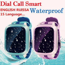 DS18 Waterproof Boys Girls GPS Tracking Smart Watch WiFi Locator Tracker SOS SMS Healthy Fitness Smart Watch for Childen Gifts