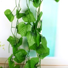 12pcs/bag Long Artificial Plants Green Ivy Leaves Artificial Grape Vine Fake Foliage Leaves Home Wedding Decoration(China)