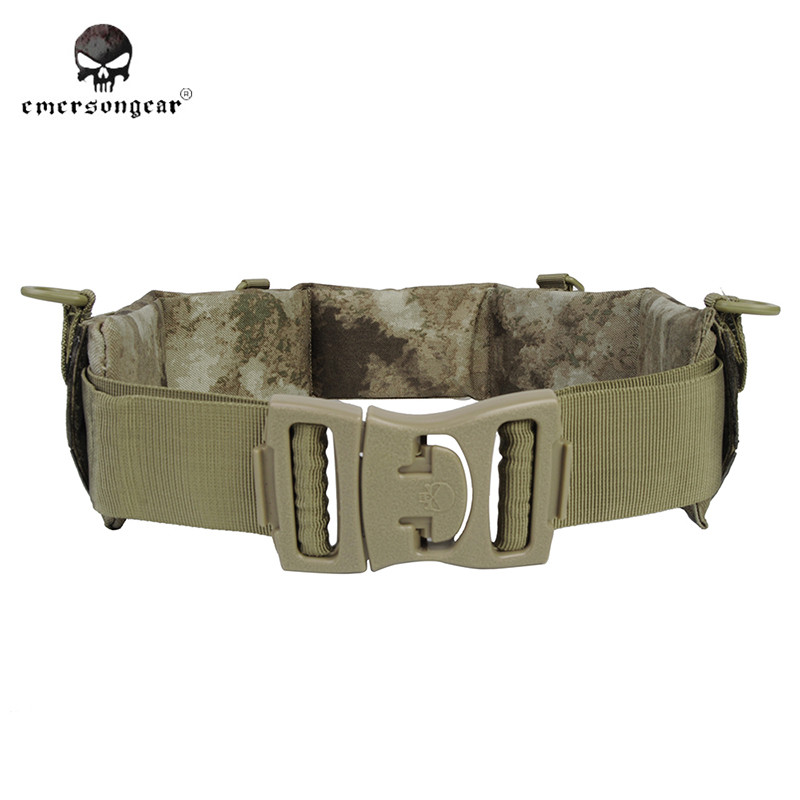 Emerson Sportswear MOLLE Padded Waist Support Mens Tactical Patrol Belt Airsoft Combat Army Belt for Hunting Paintball EM9155<br>