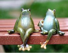 Funny cartoon frog souvenir Home decoration decorations wedding Monroe furnishings creative cute ceramics Garden decor Crafts(China)