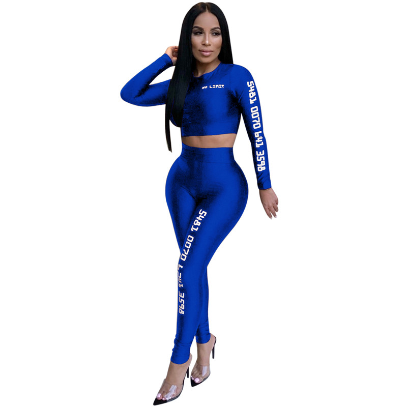 12 European and American sexy letter offset printing set sexy sequined jumpsuit fashion suit Bodysuit Female Evening Night Club Wear04