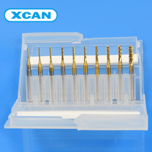 10pcs 0.8mm-3.175mm Titanium Coated Carbide End Milling Cutter Engraving Edge Cutter CNC Router Bits End mill for PCB Machine