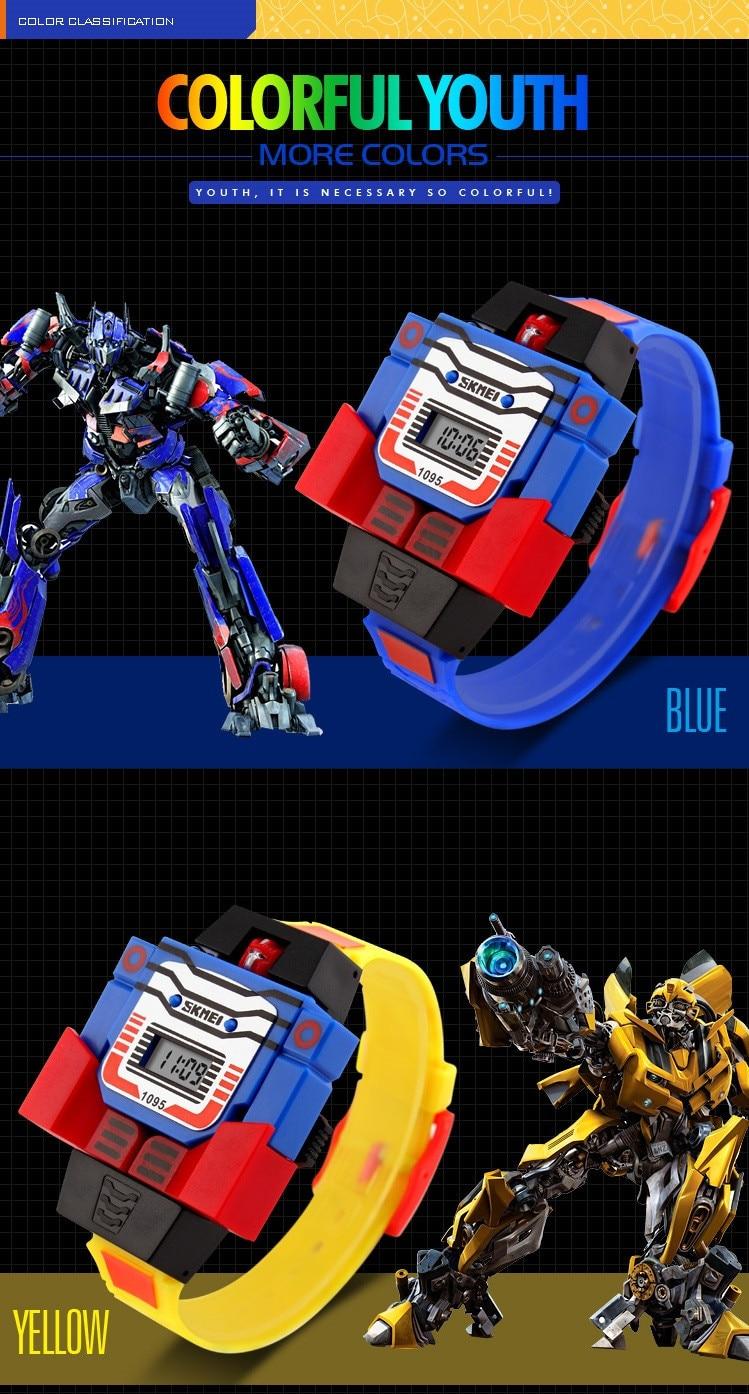 Детские Спортивные Наручные Часы Робот Трансформер для Мальчиков
