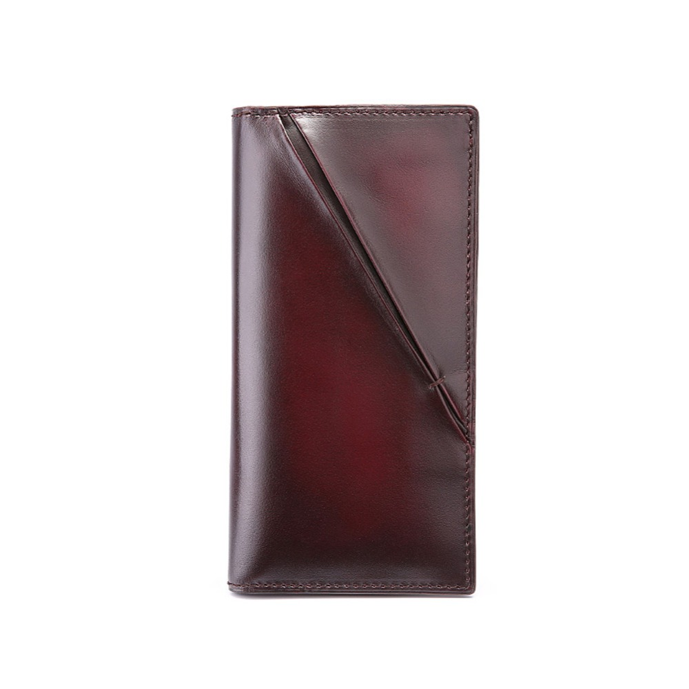 TERSE_Fsahion handmade high quality long wallet venice cowhide customize logo 3 colors in stock thin wallet factory price<br><br>Aliexpress