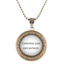 1pcs/lot Customize Your Own Design Shield Vintage Necklace Heart Necklace Choose A Characteristic Gift(China)