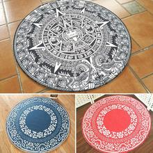 Modern Geometric Yoga Mats Cotton Room Computer Chair Doormat  Home Cashmere Linen Living Round Printed Yoga Blankets s25