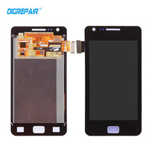 Black White for Samsung Galaxy S2 S II i9100 LCD Display Touch Screen Digitizer Assembly Replacement,Free shipping!!!(China)