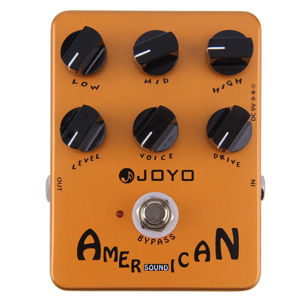 JOYO JF-14 Guitar AMP Simulator Effects Pedal Distortion Pedal VOX Fander Marshall MESA Boogie Amplifier True Bypass<br>